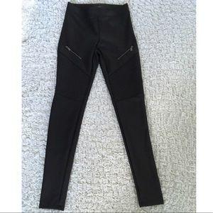 Express faux leather moto leggings